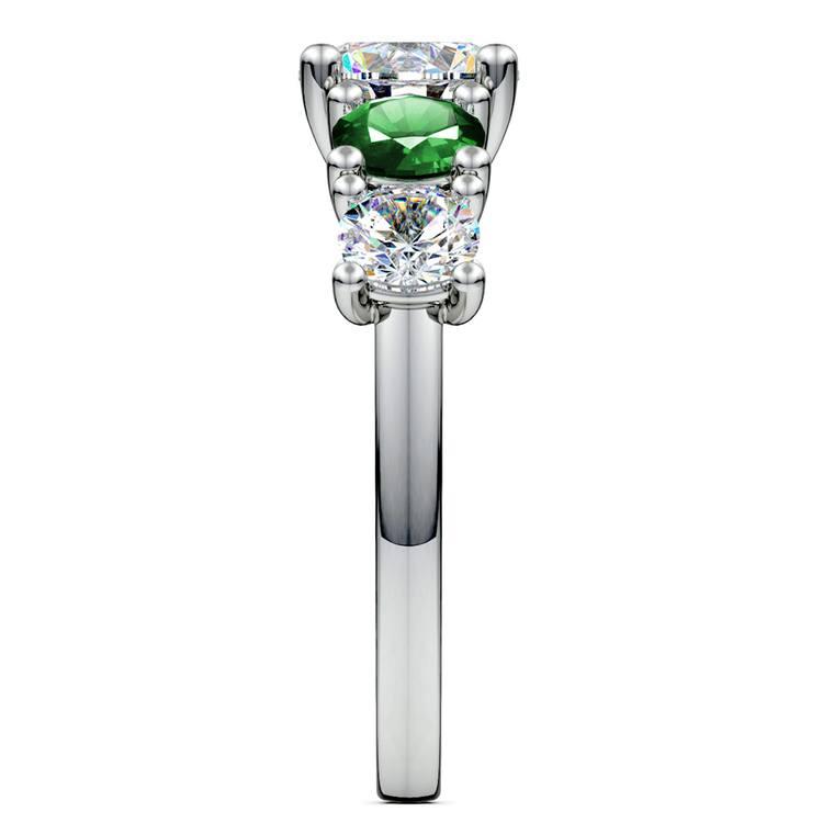 Trellis Emerald and Diamond Gemstone Engagement Ring in Platinum | 03