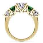 Trellis Emerald and Diamond Gemstone Engagement Ring in Yellow Gold | Thumbnail 02