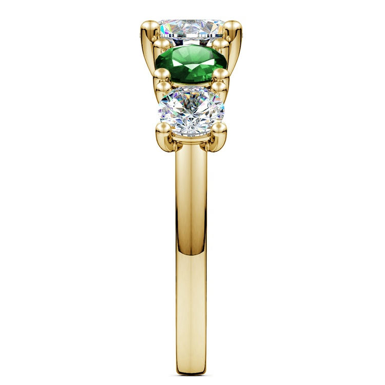 Trellis Emerald and Diamond Gemstone Engagement Ring in Yellow Gold | 03