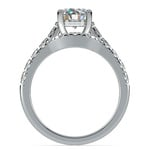 Trellis Engagement Ring And Matching Wedding Band In Platinum   Thumbnail 02