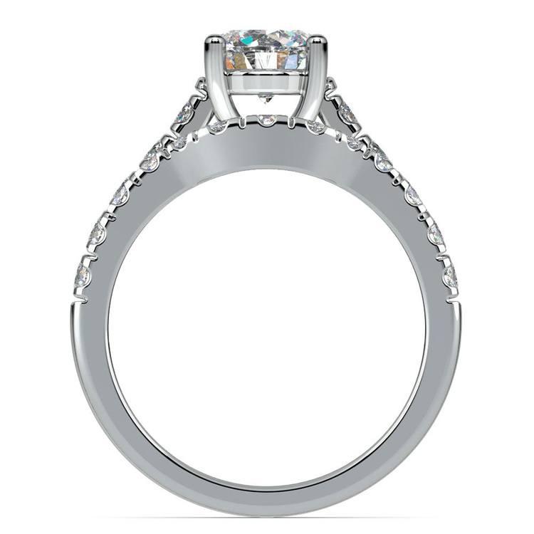 Trellis Engagement Ring And Matching Wedding Band In Platinum   02