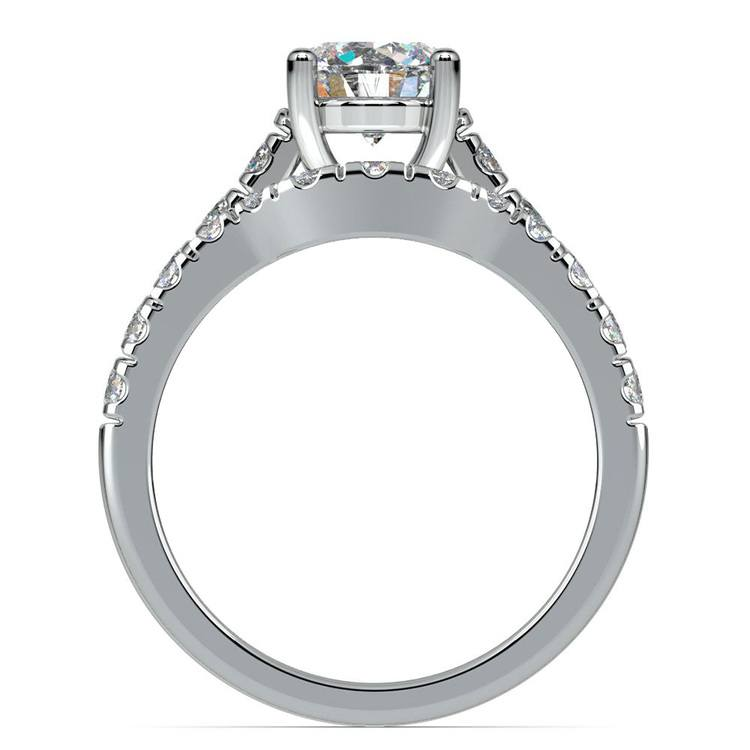 Trellis Engagement Ring And Matching Wedding Band In White Gold | 02