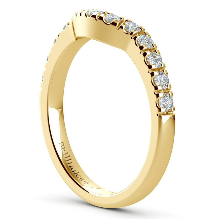 Trellis Engagement Ring And Matching Wedding Band In Yellow Gold | 05