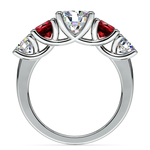 Trellis Ruby and Diamond Gemstone Engagement Ring in Platinum | Thumbnail 02