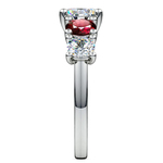 Trellis Ruby and Diamond Gemstone Engagement Ring in Platinum | Thumbnail 03
