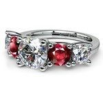 Trellis Ruby and Diamond Gemstone Engagement Ring in Platinum | Thumbnail 04