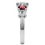 Trellis Ruby and Diamond Gemstone Engagement Ring in White Gold  | Thumbnail 03