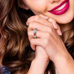 Trellis Ruby and Diamond Gemstone Engagement Ring in Yellow Gold  | Thumbnail 06