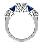 Trellis Sapphire and Diamond Gemstone Engagement Ring in White Gold  | Thumbnail 02