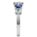 Trellis Sapphire and Diamond Gemstone Engagement Ring in White Gold  | Thumbnail 03
