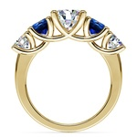 Trellis Sapphire and Diamond Gemstone Engagement Ring in Yellow Gold  | Thumbnail 02