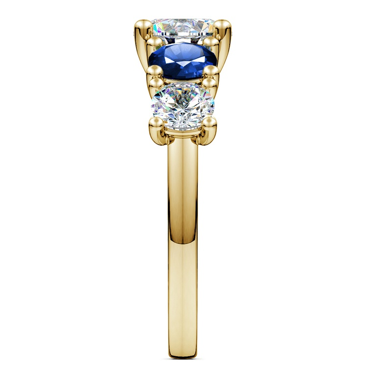 Trellis Sapphire and Diamond Gemstone Engagement Ring in Yellow Gold  | 03