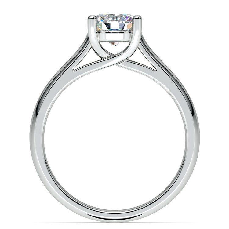 Trellis Solitaire Engagement Ring in Platinum | 02