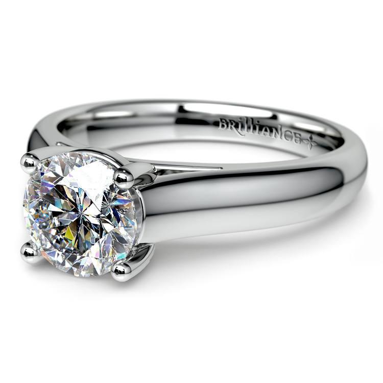 Trellis Solitaire Engagement Ring in Platinum | 04