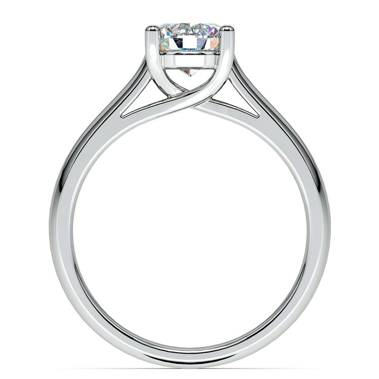 Trellis Solitaire Engagement Ring in White Gold   02