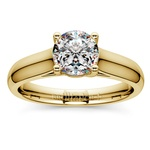 Trellis Solitaire Engagement Ring in Yellow Gold | Thumbnail 01