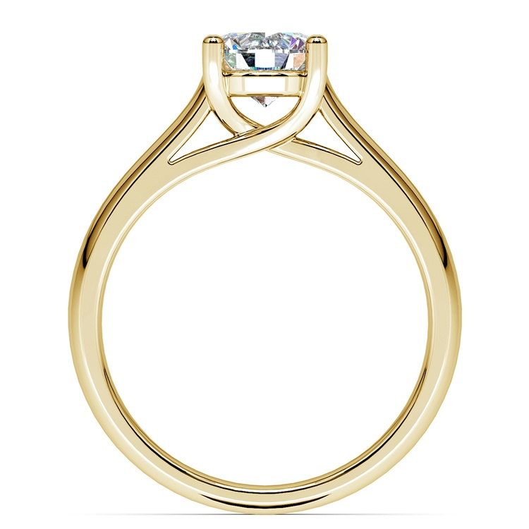 Trellis Solitaire Engagement Ring in Yellow Gold | 02