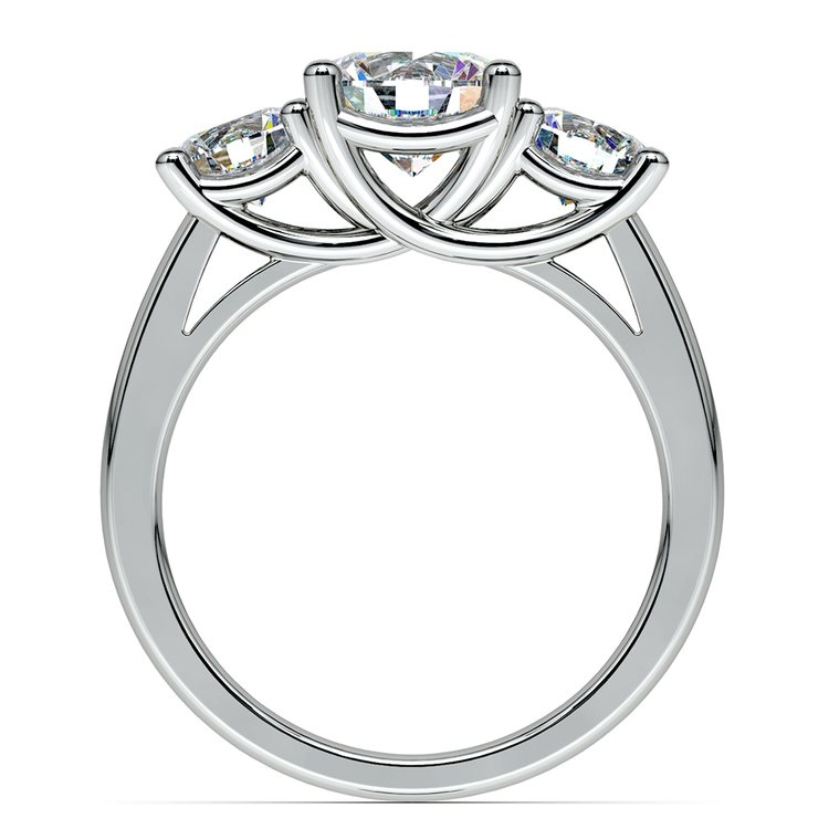 Trellis Three Diamond Engagement Ring in Platinum (1 ctw) | 02