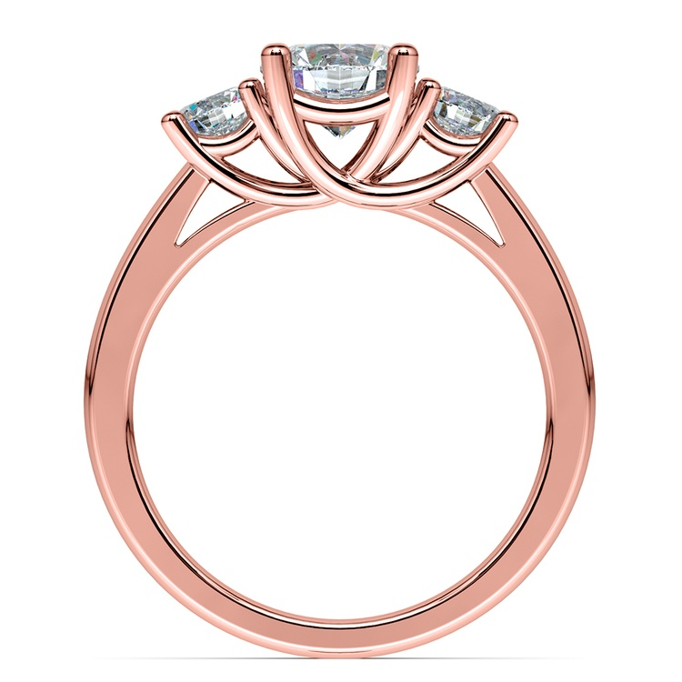 Trellis Three Diamond Engagement Ring in Rose Gold (1/2 ctw) | 02