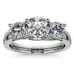 Trellis Three Diamond Engagement Ring in White Gold (1 ctw) | Thumbnail 01