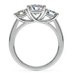 Trellis Three Diamond Engagement Ring in White Gold (1 ctw) | Thumbnail 02