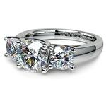 Trellis Three Diamond Engagement Ring in White Gold (1 ctw) | Thumbnail 04