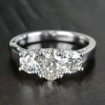 Trellis Three Diamond Engagement Ring in White Gold (1 ctw) | Thumbnail 05