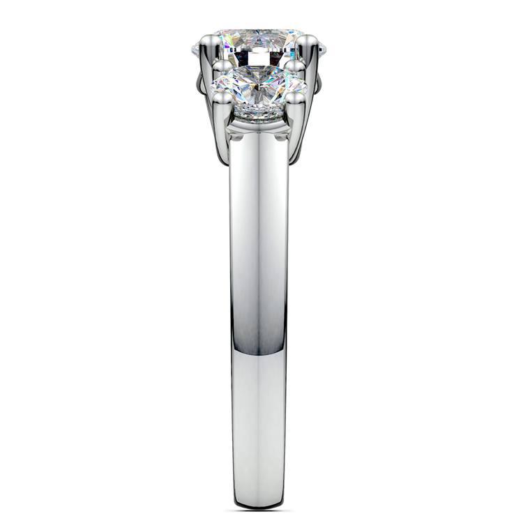 Trellis Three Diamond Engagement Ring in White Gold (1 ctw) | 03