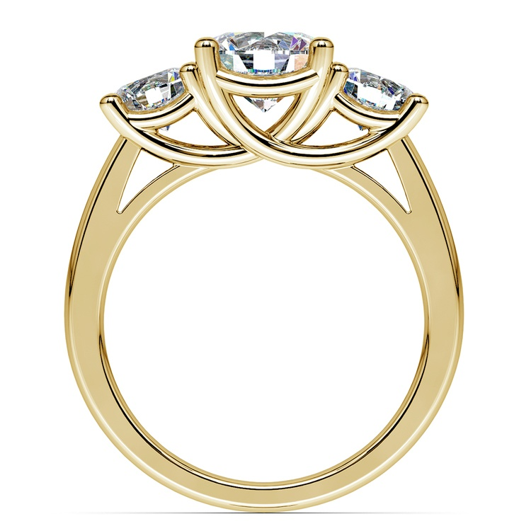 Trellis Three Diamond Engagement Ring in Yellow Gold (1 ctw) | 02