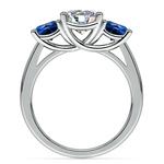 Trellis Three Sapphire Gemstone Engagement Ring in Platinum | Thumbnail 02