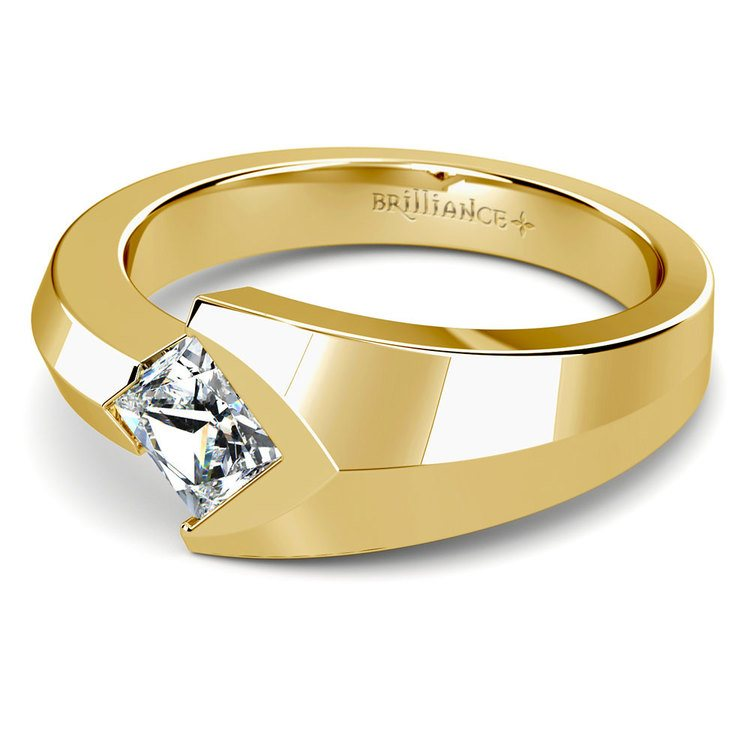 Trident Solitaire Mangagement™ Ring in Yellow Gold (1 ctw) | 01