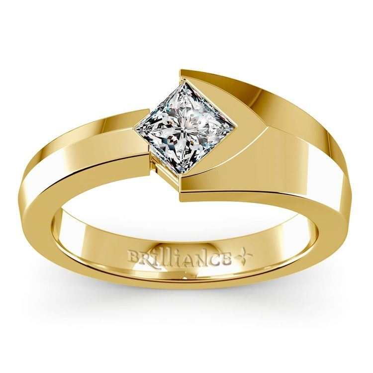 Trident Solitaire Mangagement™ Ring in Yellow Gold (1 ctw) | 02