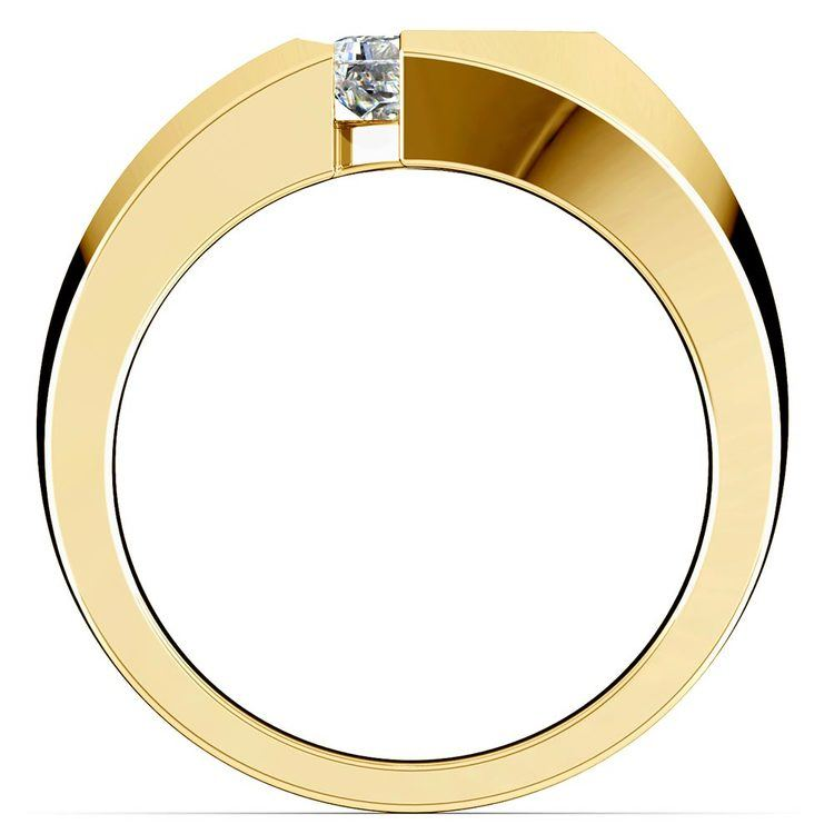 Trident Solitaire Mangagement™ Ring in Yellow Gold (1 ctw) | 03
