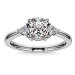 Trillion Diamond Engagement Ring in Platinum (1/3 ctw) | Thumbnail 01