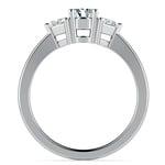 Trillion Diamond Engagement Ring in Platinum (1/3 ctw) | Thumbnail 02