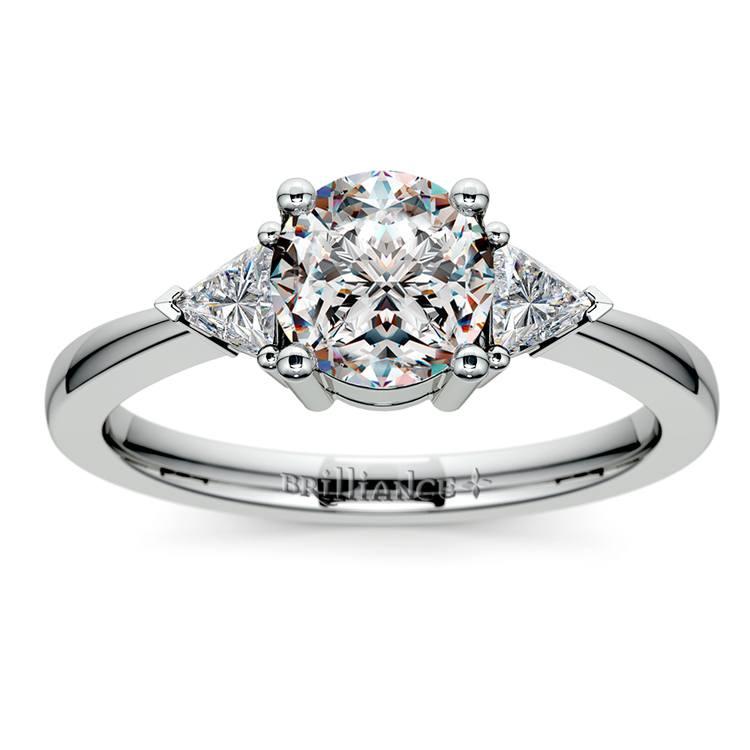 Trillion Diamond Engagement Ring in Platinum (1/3 ctw) | 01
