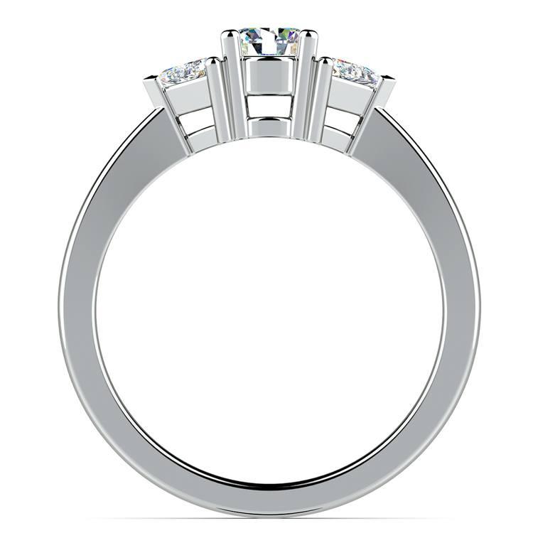 Trillion Diamond Engagement Ring in Platinum (1/3 ctw) | 02