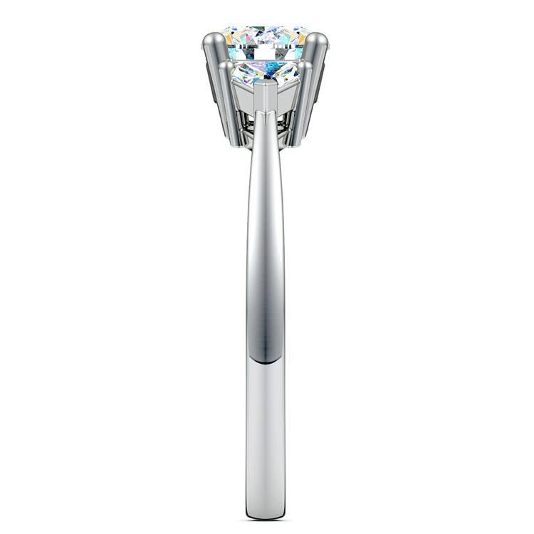 Trillion Diamond Engagement Ring in Platinum (1/3 ctw) | 03