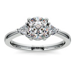 Trillion Diamond Engagement Ring in White Gold (1/3 ctw) | Thumbnail 01
