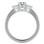 Trillion Diamond Engagement Ring in White Gold (1/3 ctw) | Thumbnail 02