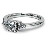 Trillion Diamond Engagement Ring in White Gold (1/3 ctw) | Thumbnail 04