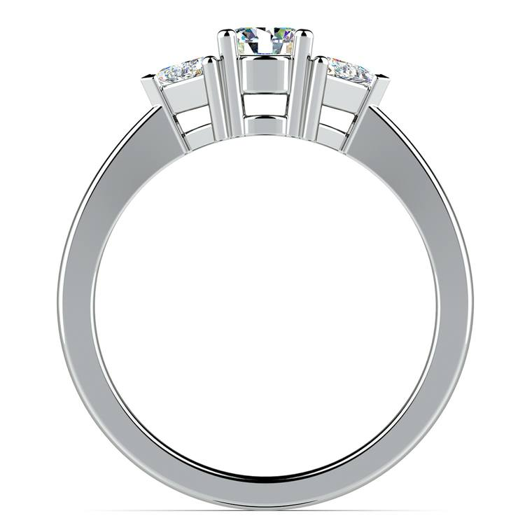 Trillion Diamond Engagement Ring in White Gold (1/3 ctw) | 02