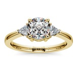 Trillion Diamond Engagement Ring in Yellow Gold (1/3 ctw) | Thumbnail 01