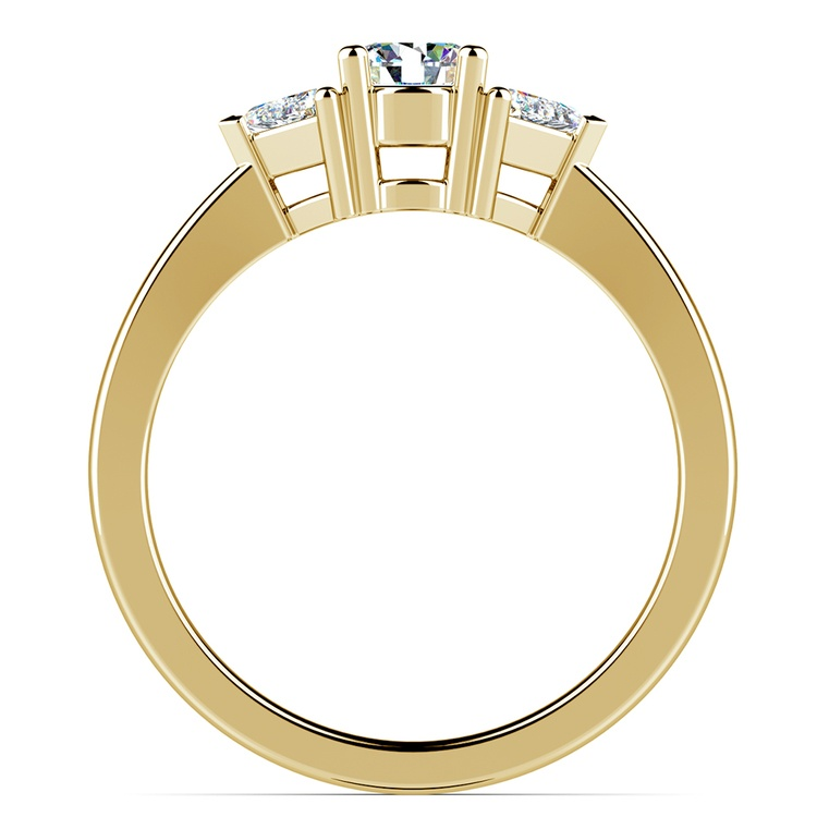 Trillion Diamond Engagement Ring in Yellow Gold (1/3 ctw) | 02