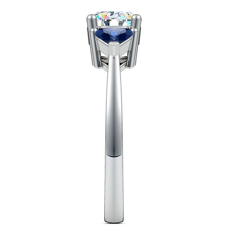 Trillion Sapphire Gemstone Engagement Ring in Platinum | 03