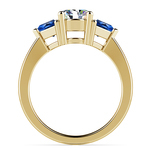 Trillion Sapphire Gemstone Engagement Ring in Yellow Gold | Thumbnail 02
