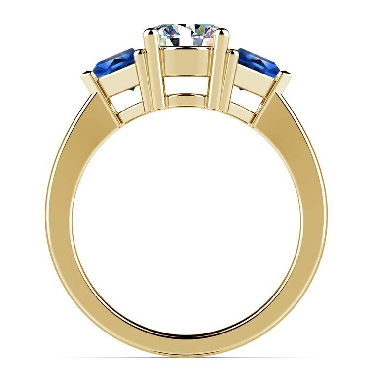 Trillion Sapphire Gemstone Engagement Ring in Yellow Gold | 02