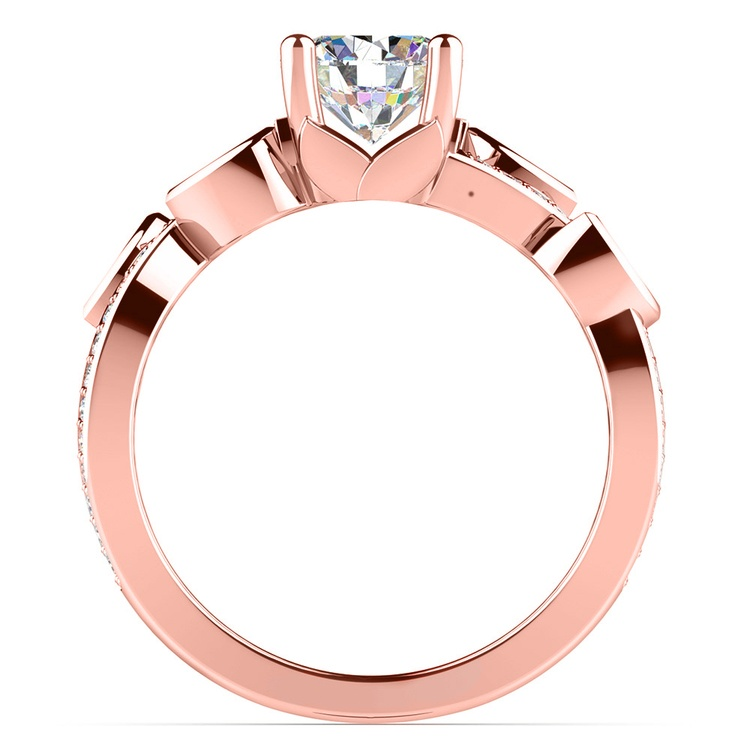 Twisted Petal Diamond Engagement Ring in Rose Gold | 02