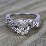 Twisted Petal Diamond Engagement Ring in Platinum | Thumbnail 05