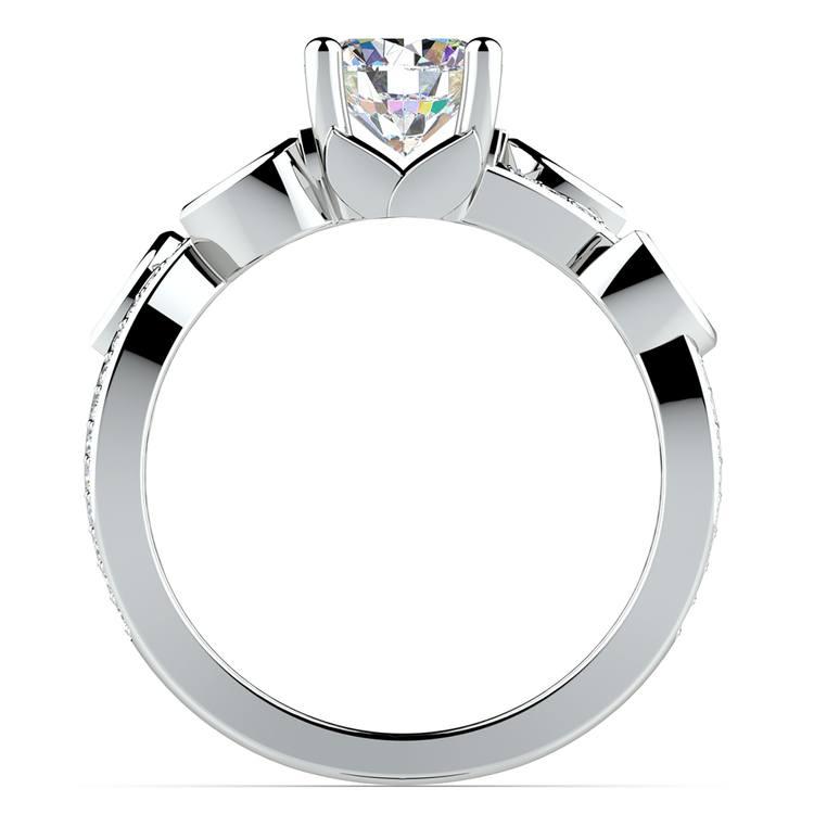 Twisted Petal Diamond Engagement Ring in Platinum | 02